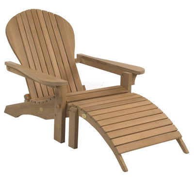 Adirondack Lounger inclusive Footstool
